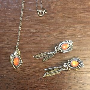 Sterling Southwestern Necklace & Earring Set